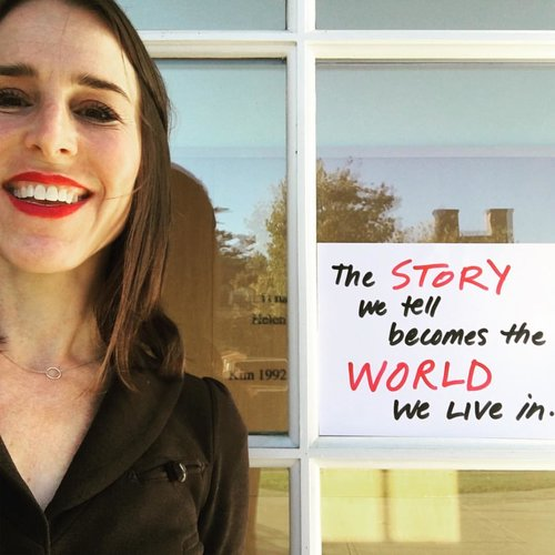 Photo from the Op-Ed project: the story we write becomes the world we live in