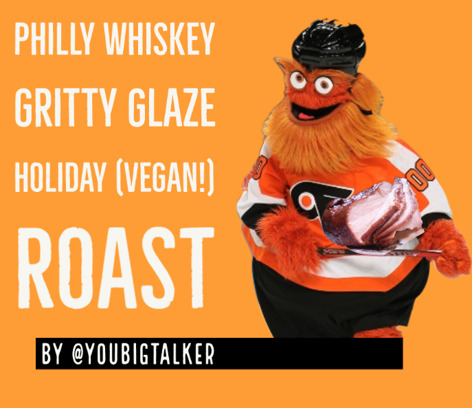 gritty holding the roast